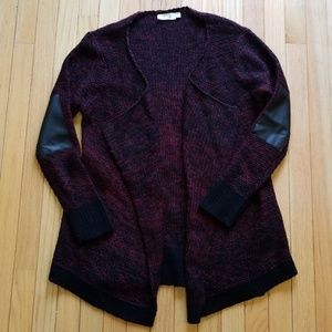 RD Style Black and red knit cardigan